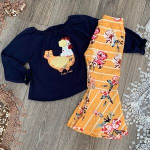 Boutique Girls 2pc Chicken Outfit